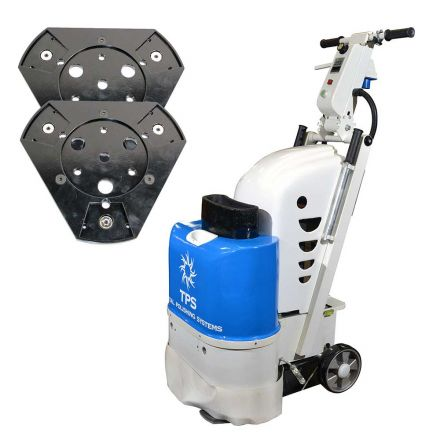 Total Polishing Systems TPSX1SETQP (TPSX1) Floor Prep Machine with 2 Quick Plates