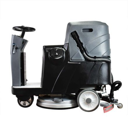 Total Polishing Systems TPSX5 Auto Ride-On Floor Scrubber 34 Inch Cleaning Path, Three 170 Amp Batteries