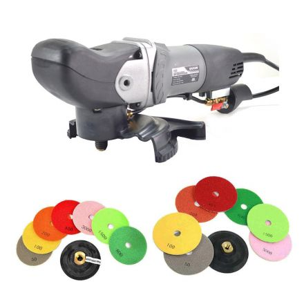 Hardin VS5-KIT Variable Speed Wet Grinder Polisher 110 Volt with 4 & 5 Inch Diamond Polishing Pads