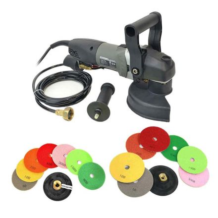 Hardin VSP5-KIT Variable Speed 700-3000 RPM, 800 Watt, Wet Grinder with 4 & 5 Inch Diamond Polishing Pads